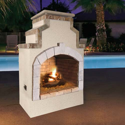 Cal Flame - Fireplace - FRP-910-1 Fireplace Default Title Cal Flame Gray