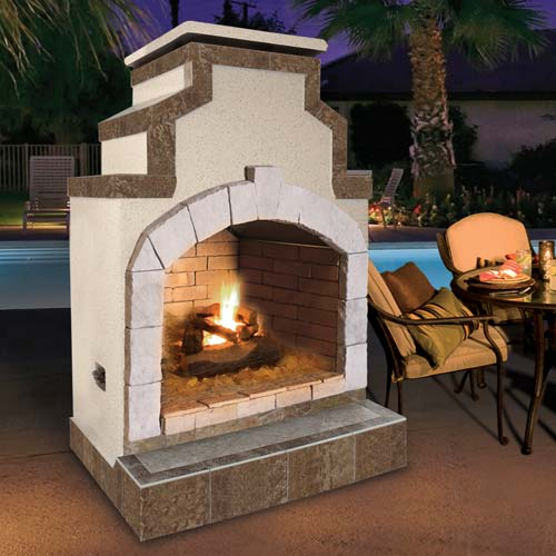 Cal Flame - Fireplace - FRP-910-2 Fireplace Default Title Cal Flame Gray