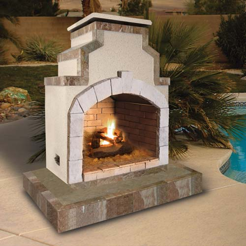 Cal Flame - Fireplace - FRP-910-3 Fireplace Default Title Cal Flame Gray