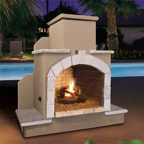 Cal Flame - Fireplace - FRP-915 Fireplace Default Title Cal Flame Rosy Brown