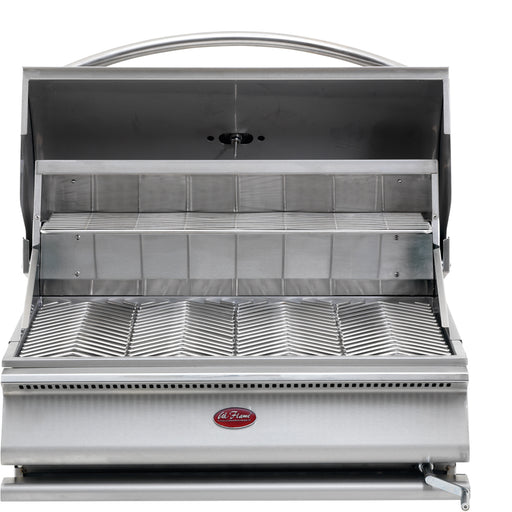 Cal Flame - G Series Built In Charcoal Grill - BBQ18G870 Built-In Grill Default Title Cal Flame Dark Gray