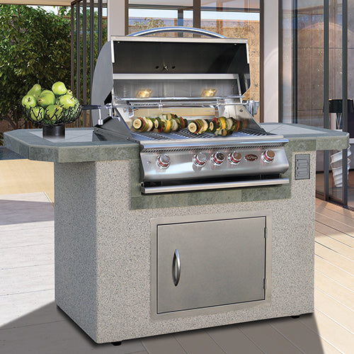 Cal Flame - LUXURY BBQ KITCHENS - LBK-601 Outdoor Kitchen Islands Default Title Cal Flame Dark Gray