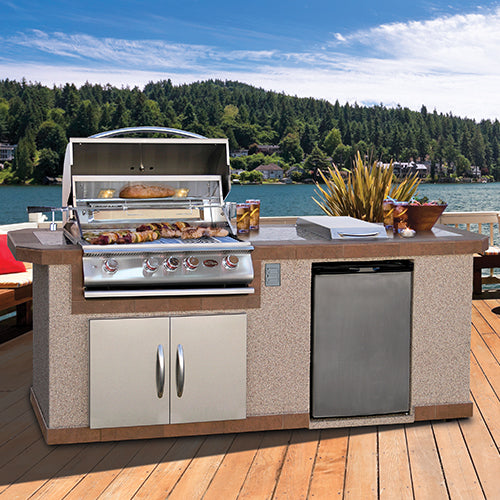 Cal Flame - LUXURY BBQ KITCHENS - LBK-801 Outdoor Kitchen Islands Default Title Cal Flame Steel Blue