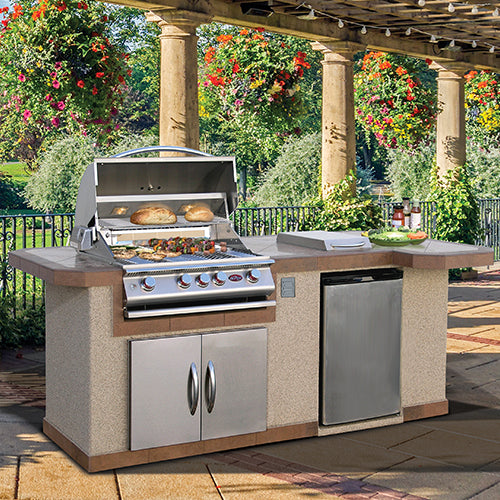 Cal Flame - LUXURY BBQ KITCHENS - LBK-820 R/L Outdoor Kitchen Islands Left,Right Cal Flame Rosy Brown