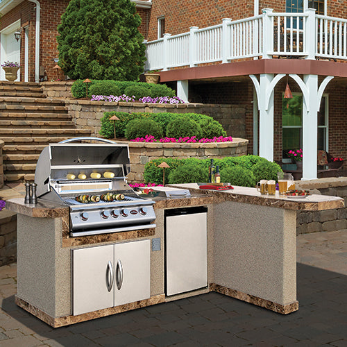 Cal Flame - LUXURY BBQ KITCHENS - LBK-830 R/L Outdoor Kitchen Islands Left,Right Cal Flame Dark Olive Green