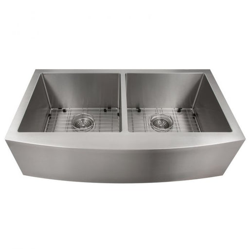 ZLINE - NISEKO FARMHOUSE 36 INCH APRON MOUNT DOUBLE BOWL SINK IN STAINLESS STEEL (SA50D-36) Sinks Default Title Zline Dim Gray