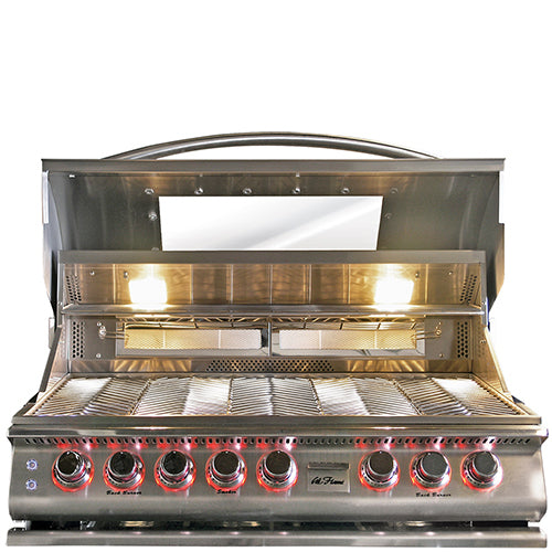 Cal Flame - Top Gun 5 Burner Built In Convection Grill LP/NG - BBQ18875CTG Built-In Grill Default Title Cal Flame Dark Olive Green