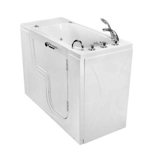 Ellas Bubbles - Ella Transfer26 L-Shaped Outward Swing Door Wheelchair Accessible Acrylic Walk-In Bathtub with 2″ Dual Drain Walk-in Tub Right / Hydro,Right / Hydro+Air,Right / Hydro+Micro,Right / Micro,Right / Soaking,Left / Hydro,Left / Hydro+Air,Left / Hydro+Micro,Left / Micro,Left / Soaking Ella's Bubbles Light Gray