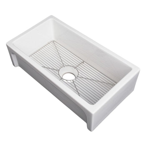 ZLINE - TURIN FARMHOUSE REVERSIBLE FIRECLAY SINK IN WHITE GLOSS (FRC5117-WH-30) Sinks Default Title Zline Gray