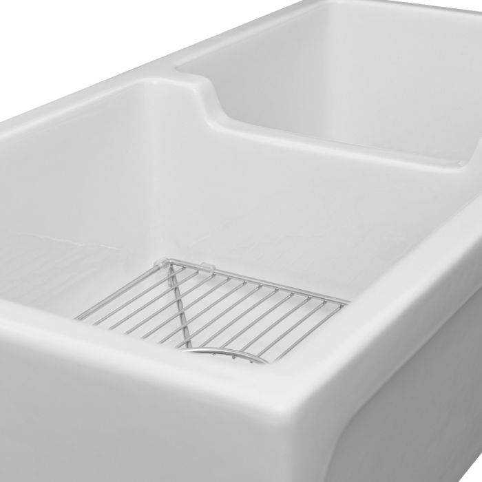 ZLINE - PALERMO FARMHOUSE REVERSIBLE FIRECLAY SINK IN WHITE GLOSS (FRC5121-WH-36) Sinks Default Title Zline Light Gray