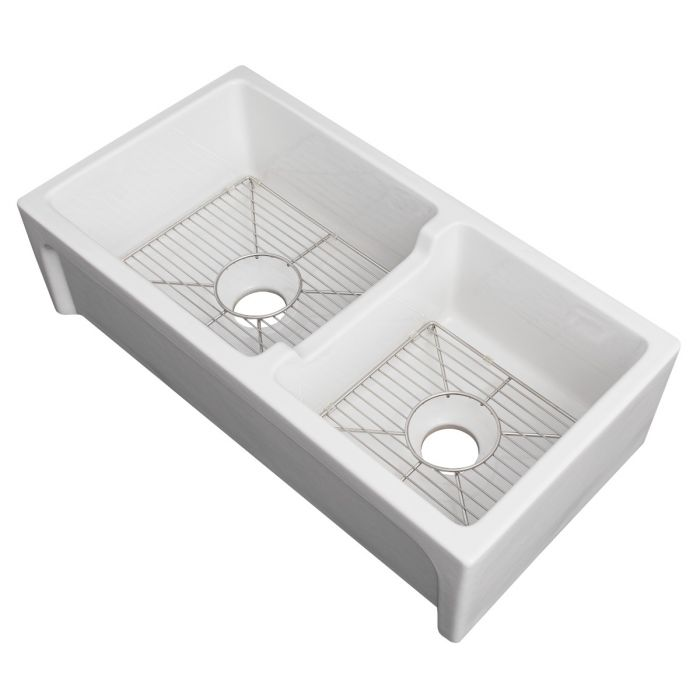 ZLINE - PALERMO FARMHOUSE REVERSIBLE FIRECLAY SINK IN WHITE GLOSS (FRC5121-WH-36) Sinks Default Title Zline Gray