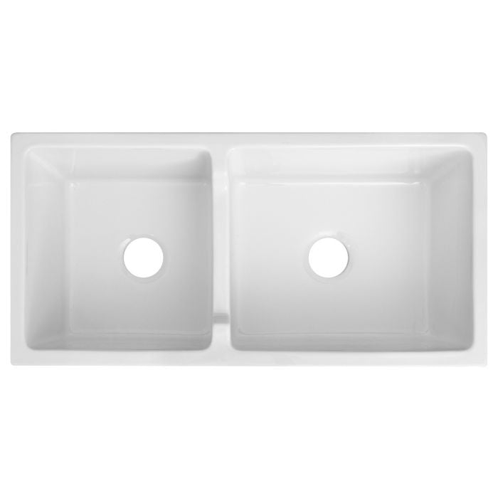 ZLINE - PALERMO FARMHOUSE REVERSIBLE FIRECLAY SINK IN WHITE GLOSS (FRC5121-WH-36) Sinks Default Title Zline Lavender