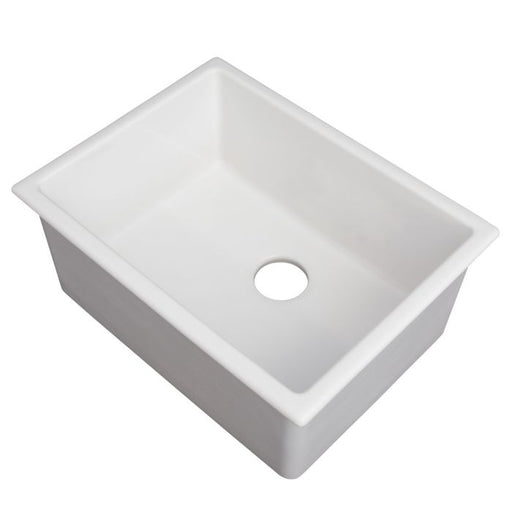 ZLINE - ROME DUAL MOUNT FIRECLAY SINK IN WHITE GLOSS (FRC5123-WH-24) Sinks Default Title Zline Light Gray