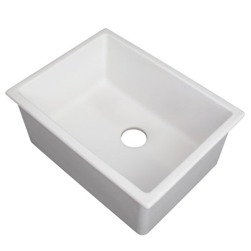 ZLINE - ROME DUAL MOUNT FIRECLAY SINK IN WHITE MATTE (FRC5123-WM-24) Sinks Default Title Zline Light Gray