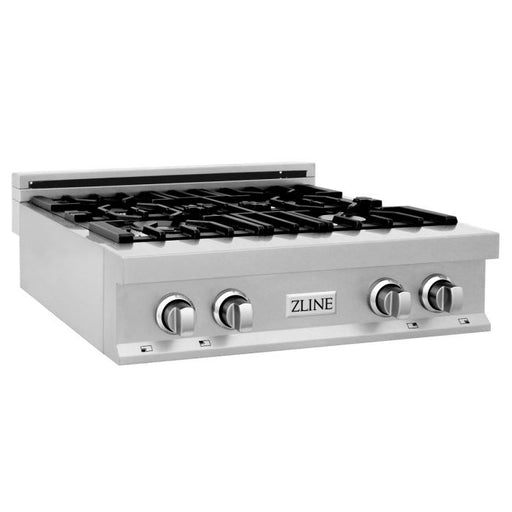 ZLINE - 30 IN. PORCELAIN RANGETOP IN DURASNOW® STAINLESS STEEL WITH 4 GAS BURNERS - RTS-30 Rangetop Default Title Zline