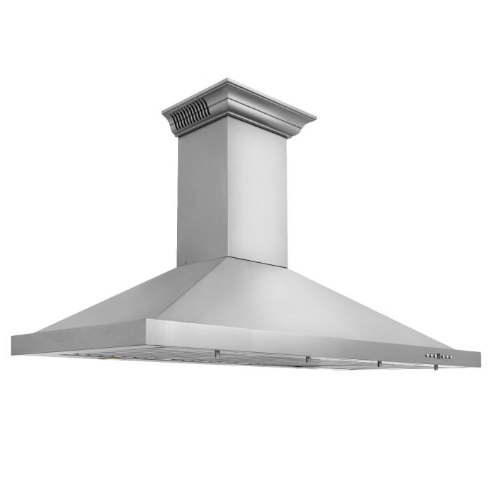 ZLINE - 42 IN. WALL MOUNT RANGE HOOD IN STAINLESS STEEL WITH BUILT-IN CROWNSOUND® BLUETOOTH SPEAKERS - KBCRN-BT-42 Range Hoods Default Title Zline Gray