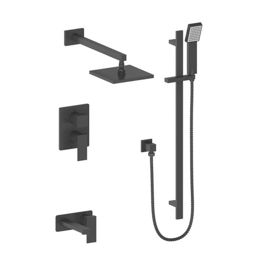 ZLINE - BLISS SHOWER SYSTEM IN MATTE BLACK (BLS-SHS-MB) Shower Systems Default Title Zline Dark Slate Gray