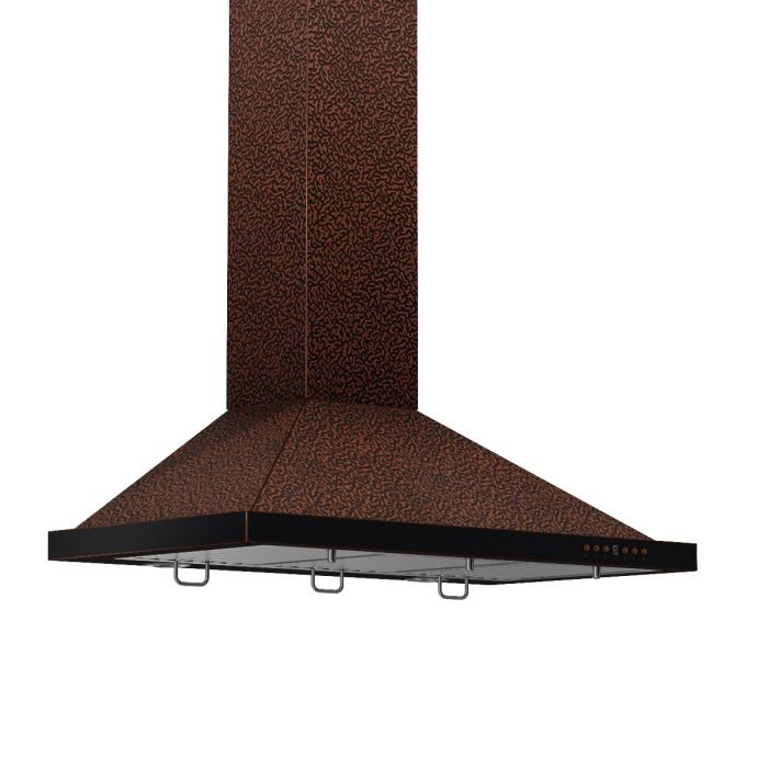 "ZLINE - 30"" DESIGNER SERIES EMBOSSED COPPER FINISH WALL RANGE HOOD - 8KBE-30 Range Hoods Default Title Zline Dark Slate Gray"