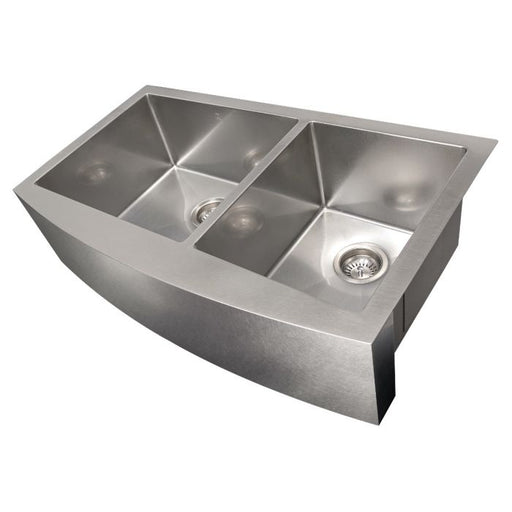 ZLINE - COURCHEVEL FARMHOUSE 36 INCH UNDERMOUNT DOUBLE BOWL SINK IN DURASNOW® STAINLESS STEEL (SA60D-36S) Sinks Default Title Zline Dark Gray