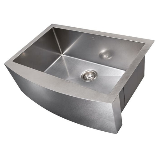 ZLINE - ZERMATT FARMHOUSE 30 INCH UNDERMOUNT SINGLE BOWL SINK IN DURASNOW® STAINLESS STEEL (SAS-30S) Sinks Default Title Zline Dark Gray