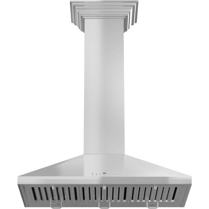 "ZLINE - 30"" WALL RANGE HOOD WITH CROWN MOLDING - KL2CRN-30 Range Hoods Default Title Zline Light Gray"