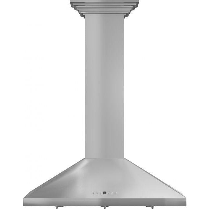 "ZLINE - 30"" WALL RANGE HOOD WITH CROWN MOLDING - KL2CRN-30 Range Hoods Default Title Zline Gray"