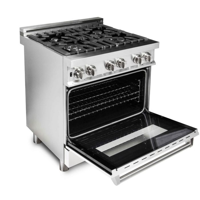 ZLINE - 30 IN. PROFESSIONAL DUAL FUEL RANGE WITH WHITE MATTE DOOR - RA-WM-30 Ranges Default Title Zline Black