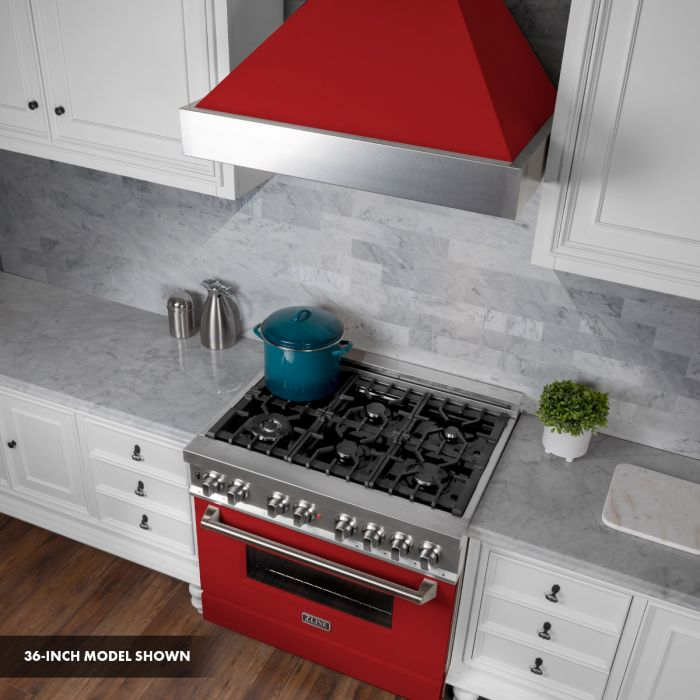 ZLINE - 30 IN. PROFESSIONAL DUAL FUEL RANGE IN DURASNOW® STAINLESS STEEL WITH RED MATTE DOOR - RAS-RM-30 Ranges Default Title Zline Dark Slate Gray