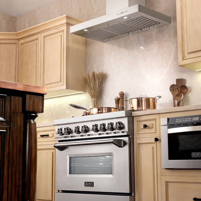"ZLINE - 36"" WALL RANGE HOOD - KE-36 Range Hoods Default Title Zline Antique White"
