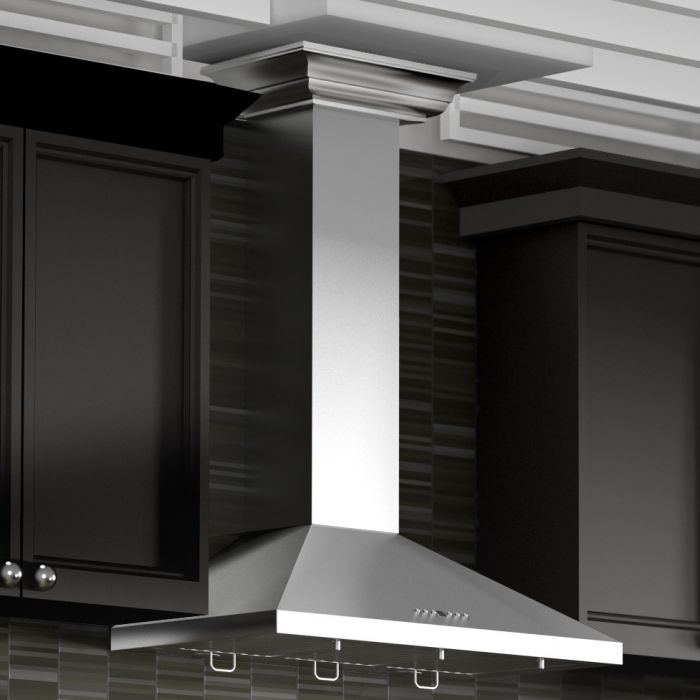 "ZLINE - 30"" WALL RANGE HOOD WITH CROWN MOLDING - KL2CRN-30 Range Hoods Default Title Zline Black"