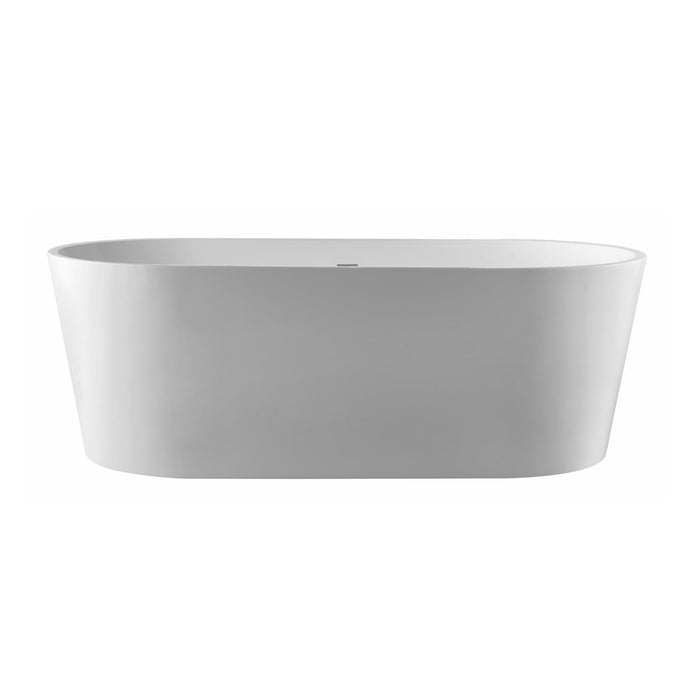 Pulse - Polished White Acrylic Freestanding Tubs 1003 Freestanding Bathtub Chrome,Brushed Nickel,150-Chrome,150-Brushed Nickel PULSE ShowerSpas Dark Gray