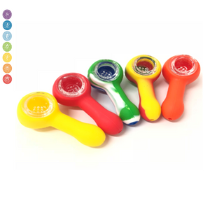 Silicone Spoon With Glass Bowl