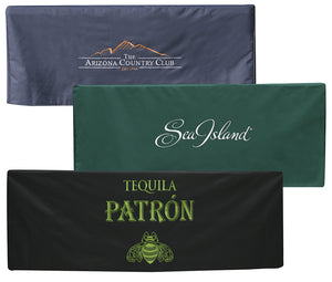 Table Cover with Embroidered Logo + UV Resistant