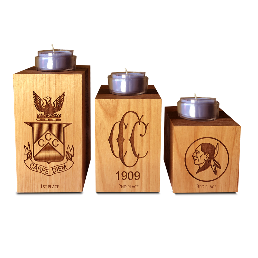 Wooden Candle Blocks