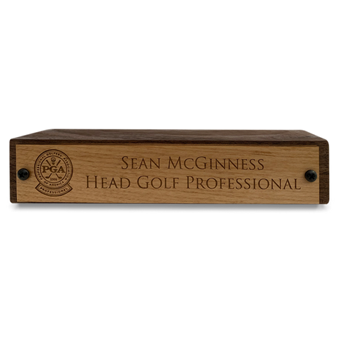Wooden Individual Staff Name Plaques