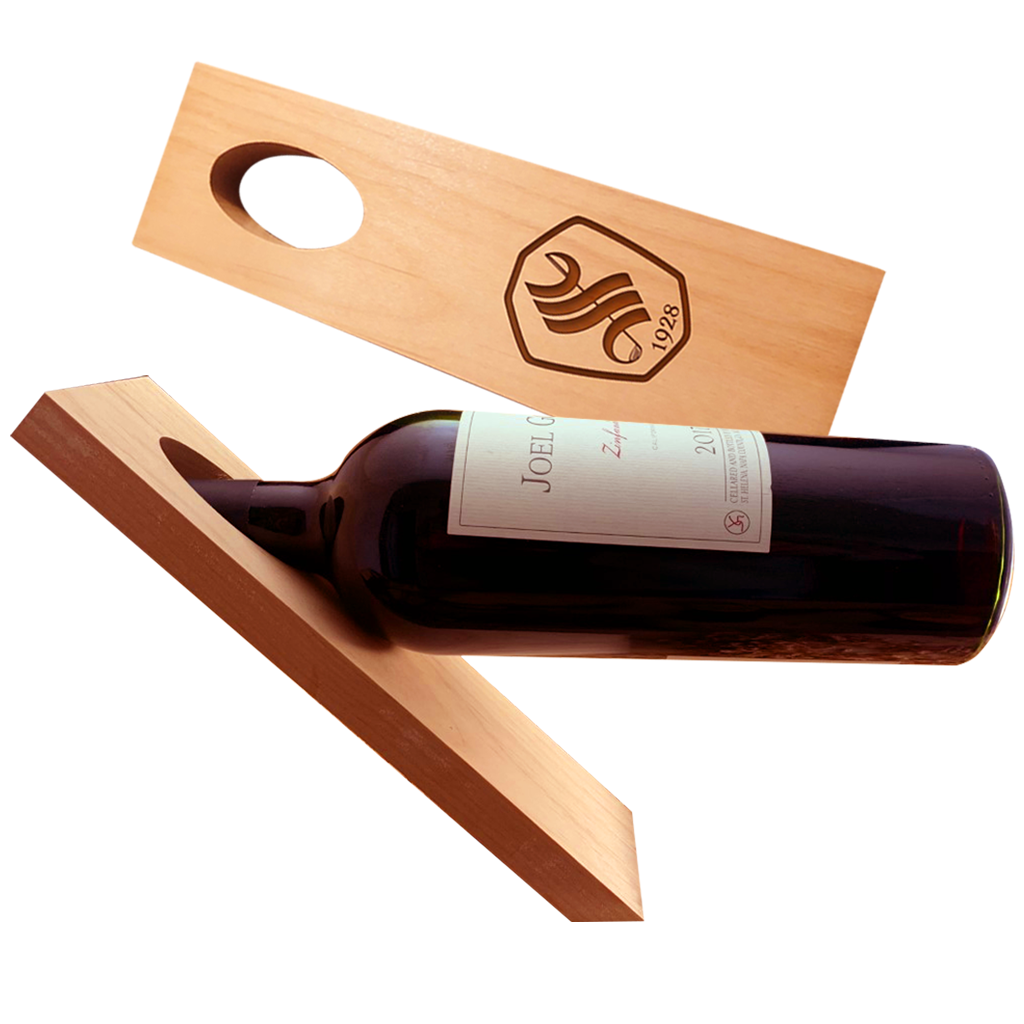 Wooden Gravity Wine Holder