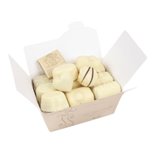 Load image into Gallery viewer, WHITE Chocolates Ballotin Box by weight - www.chocolateorders.com