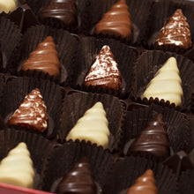 Load image into Gallery viewer, Christmas Tree Chocolates in Festive Red Box
