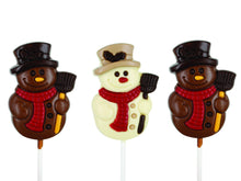Load image into Gallery viewer, Christmas Lollipop Chocolate Figures