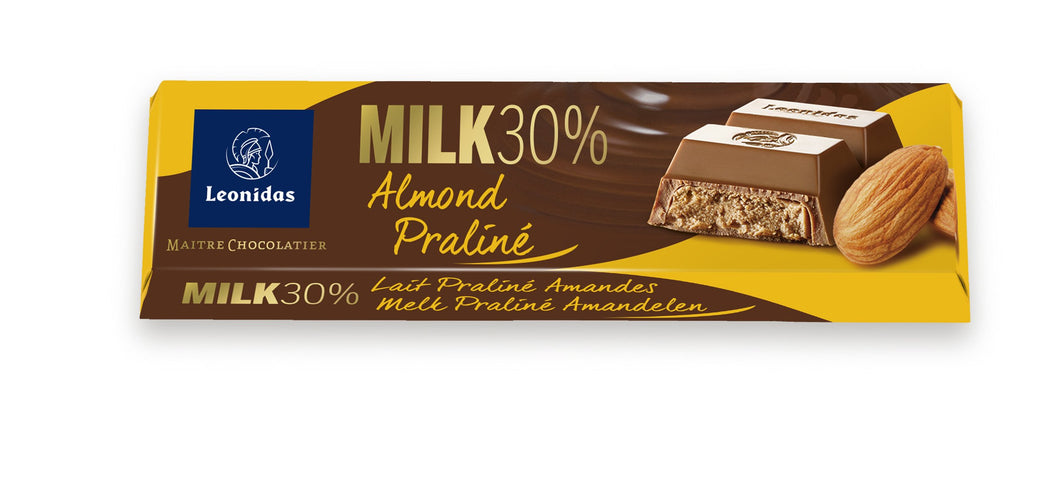 Milk Almond Praline Bar - www.chocolateorders.com