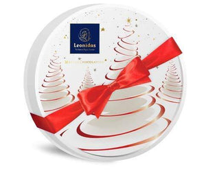Christmas White Prestige Round Box - www.chocolateorders.com