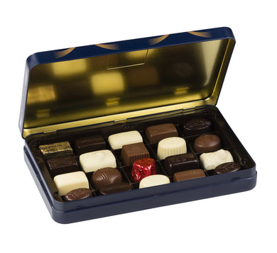 Luxury Blue Tin Large - www.chocolateorders.com