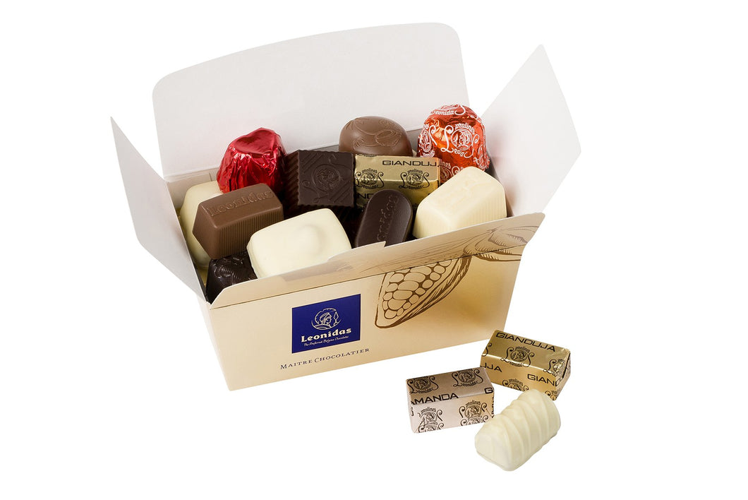 500g ASSORTMENT Leonidas Blissful Ballotin Box - www.chocolateorders.com