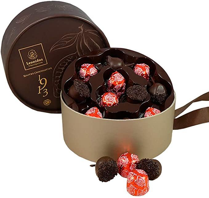Luxury Cherry Liqueur Chocolate Round Box - www.chocolateorders.com