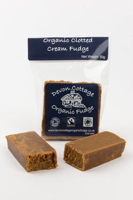 Clotted Cream Organic Fudge in a Small Bag 50g. - www.chocolateorders.com