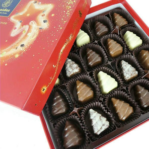 Christmas Tree Chocolates in Festive Red Box