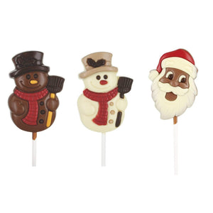 Christmas Lollipop Chocolate Figures