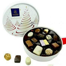 Load image into Gallery viewer, Christmas White Prestige Round Box - www.chocolateorders.com