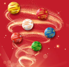 Load image into Gallery viewer, Christmas Chocolate Balls in Cylinder - 3 size available - www.chocolateorders.com