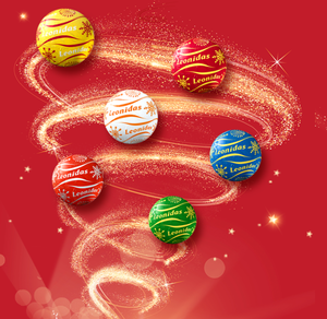 Christmas Chocolate Balls in Cylinder - 3 size available - www.chocolateorders.com